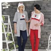 Haluk Baha Lohusa 3'lü Emzirme Pijama Takım Kırmızı M 21239236
