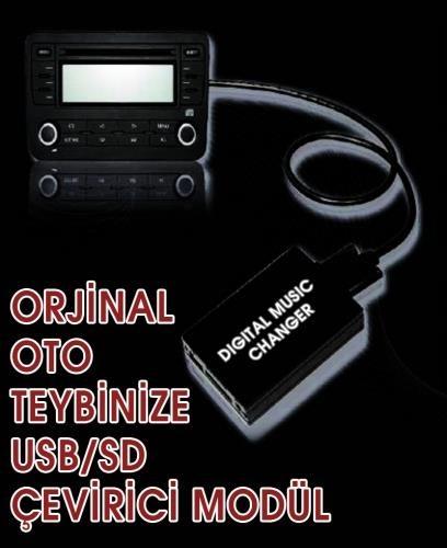 Ototarz Toyota Yaris (1998 - 2003 Arası) Orijinal Müzik Çaları ( Usb,Sd )Li Çalara Çevirici Modül
