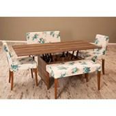 Sanal Mobilya Çise Orta Sehpa-Masa & Sandalye Takımı- Gül D-442 30250654