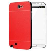 Microsonic Samsung Galaxy Note 2 Kılıf Hybrid Metal Kırmızı
