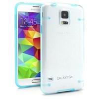 Microsonic Hybrid Transparant Samsung Galaxy S5 Kılıf Mavi