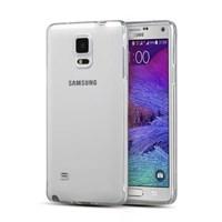 Microsonic Glossy Soft Samsung Galaxy Note 4 Kılıf Şeffaf