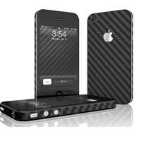 iPHONE 4 ÖN-ARKA-YAN KARBON FİBER KORUYUCU SİYAH