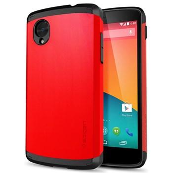 Nexus 5 Case Slim Armor - Parlak Kırmızı