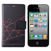 VERUS iPhone 4 Modern Kılıf Siyah MGSABLX3456