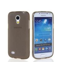 Soft TPU Galaxy S4 Mini Slikon Siyah Kılıf MGSASMPUY56