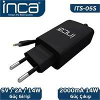 Inca Its-05S 2.5Mm 5V 2A Siyah Tablet Şarj Adaptörü