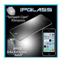 IPG Apple iPhone 5C Temperli Cam Görünmez Ekran+Arka Koruyucu