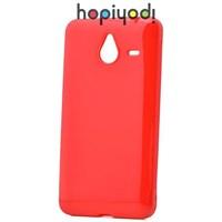 Microsoft Lumia 640 XL Kılıf Süper Silikon Arka Kapak Kırmızı