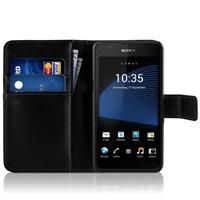 Microsonic Sony Xperia E4g (4.7'') Kılıf Cüzdanlı Deri Siyah