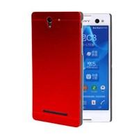 Microsonic Sony Xperia C3 Kılıf Hybrid Metal Kırmızı
