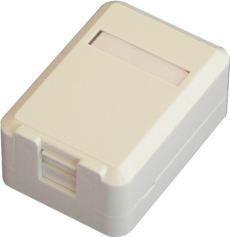 DORAX 1 Port Shutter Kapaklı Sıva üstü Data Prizi (Boş) - DR-6104-1PB