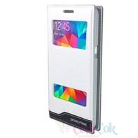 Samsung Galaxy Grand Prime Kılıf Pencereli Gizli Beyaz