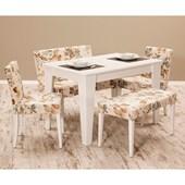 Sanal Mobilya Miranda Masa & Sandalye Takımı-Gül D-420 30250997
