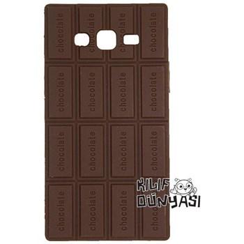 Samsung Galaxy E5 Kılıf Kokulu Çikolatalı Silikon Kapak