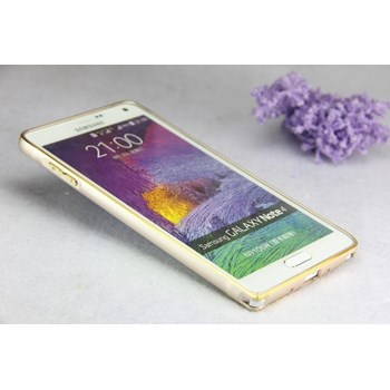 Samsung Galaxy Note 4 Kılıf Metal Bumper Çerçeve Altın
