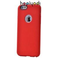 İphone 6 Kılıf Line Silikon Tırtıklı Arka Kapak Kırmızı