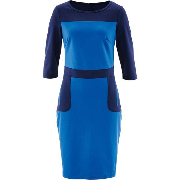 Bpc Bonprix Collection Dizde İki Cepli Elbise - Mavi 32709854