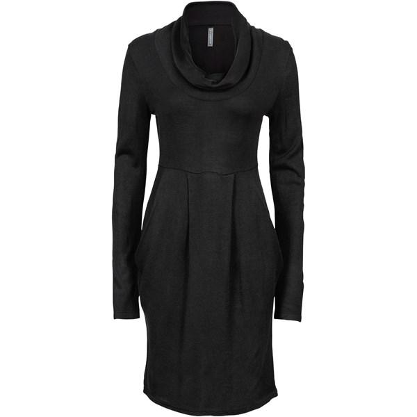 RAINBOW Örgü elbise - Siyah 32534997