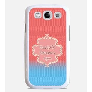 Kişiye Özel Mesajınız ile Pembeli Mavili Telefon Kılıfları