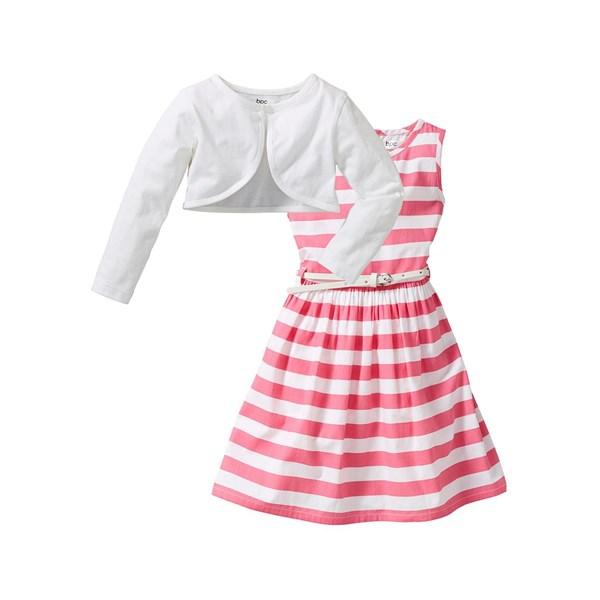 Bpc Bonprix Collection Elbise + Kemer + Bolero (3 Parça) Pembe - 15904961