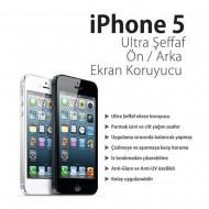 Iphone 5 Ön Arka Ultra Şeffaf Ekran Koruyucu