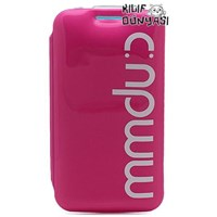 Samsung Galaxy S3 Kılıf Bubble Flip Cover Pembe