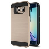 Microsonic Samsung Galaxy S6 Edge Kılıf Slim Heavy Duty Gold CS300-SHD-GLX-S6-EDGE-GLD