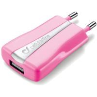 CELLULAR LINE Compact USB Şarj Aparatı Pembe