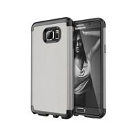 Microsonic Samsung Galaxy Note 5 Kılıf Slim Fit Dual Layer Armor Gümüş