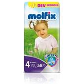 Molfix Dev Ekonomi Paket Maxi Plus 4+ Numara Bebek Bezi 58 Adet