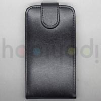 LG Nexus 4 E960 Kılıf Deri Dik Kapaklı Siyah