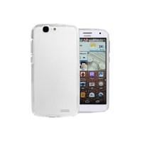Microsonic Glossy Soft Huawei Ascend G7 Kılıf Beyaz