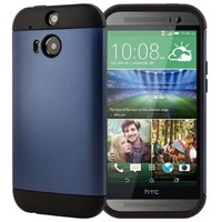 Microsonic Slim Fit Dual Layer Armor Htc One M8s Kılıf Mavi