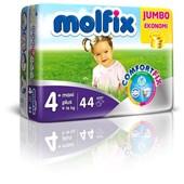 Molfix Jumbo Paket Maxi Plus 4+ Numara Bebek Bezi 44 Adet