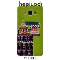 Samsung Galaxy E7 Kılıf Silikon It Feels Desenli Kapak