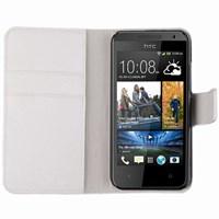 Microsonic Cüzdanlı Deri Kılıf - HTC Desire 300 301E- Beyaz