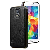 Microsonic Derili Metal Delüx Samsung Galaxy S5 Kılıf Siyah