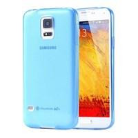 Soft TPU Galaxy S5 Ultra Slim Silikon Kılıf Mavi MGSCFHQRTXY