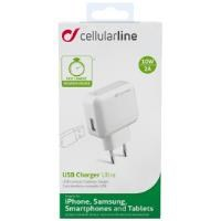 CELLULAR LINE USB Seyahat Şarj Cihazı 2 Çıkışlı 2 A Beyaz