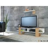 Minar Alcea Tv Ünitesi - P.Beyaz - Bambu 32067471