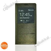Redlife Su Geçirmez Pencereli Akıllı Kılıf Samsung Galaxy S5 Kahverengi