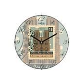 Cadran Luxury Bombeli Cam Duvar Saati Posta Pulu Paris 32756296