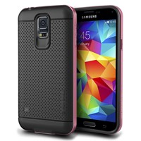 Verus Samsung Galaxy S5 Case Iron Shield Series Kılıf - Renk : Rose Pink
