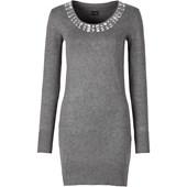 BODYFLIRT Örgü elbise - Gri 28168749