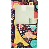 Samsung Galaxy Note 3 Kılıf Love Paris S-View Flip Cover