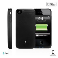 Ttec Plus Caffeine iPhone Şarj Kılıfı iPhone 4S Siyah