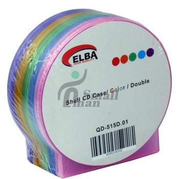 ELBA QD-515.01 2Lİ Renkli 80pc Shell CD Case