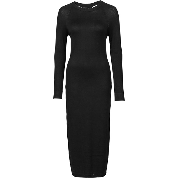 RAINBOW Sırt dekolteli midi elbise - Siyah 32535107