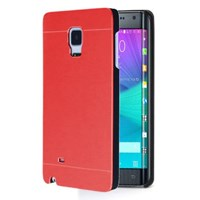 Microsonic Samsung Galaxy Note Edge Kılıf Hybrid Metal Kırmızı